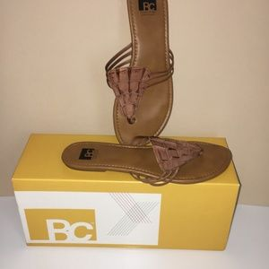 Leather flip-flops by BC